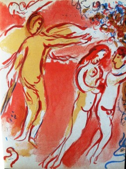 Adam and Eve are banished from the garden of Eve