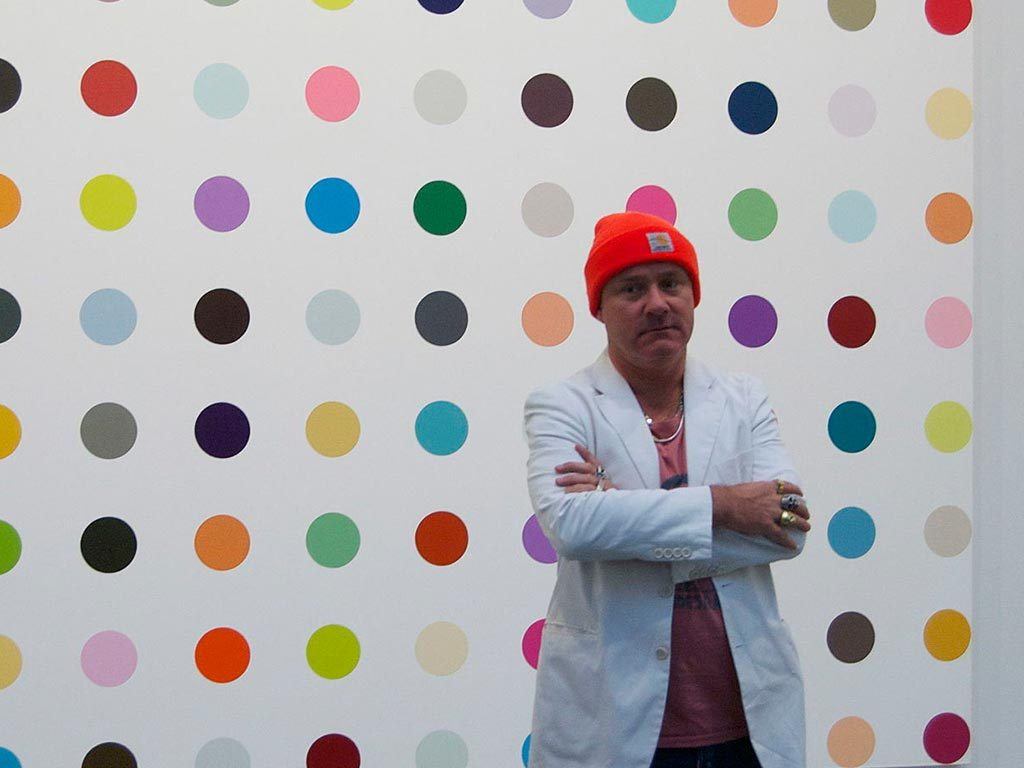 Damien Hirst, photo by Andrew Russeth
